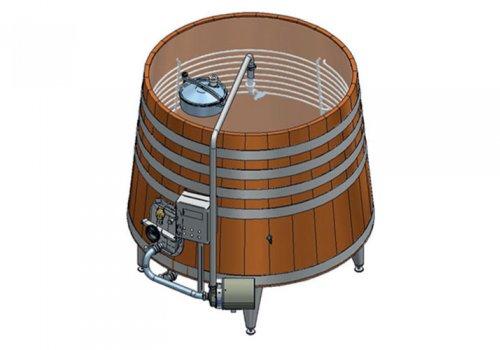 """Fermentator tronconic tip """"barrel"""" pentru vinuri premium"""